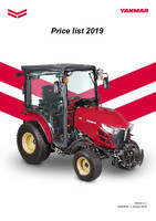 Yanmar Agriculture 2019 Price List